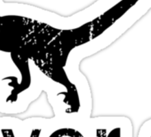 Clever Girl (Black) - Jurassic Park Sticker