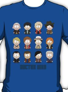 All Twelve The Doctors (South Park) - Doctor Who T-Shirt