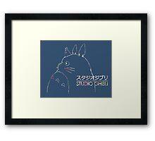 Studio Ghibli Totoro Floral Framed Print