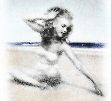 Marilyn by Sandra Bauser Digital Art