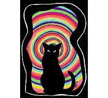time for child stories: the BLACK CAT Photographic Print