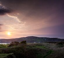 Sunset over the south Gower coast by leightoncollins