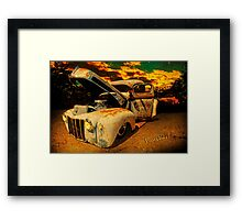Sunset At The Blanco River Framed Print