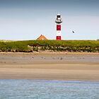 Lighthouse in Nieuwpoort Belgium. by M. van Oostrum