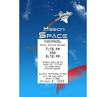 Mission Space Fastpass Photographic Print