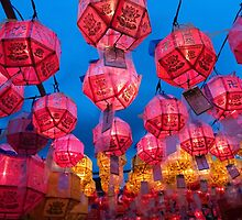 Buddhist Prayer Lanterns - Samgwang Temple, South Korea by Alex Zuccarelli