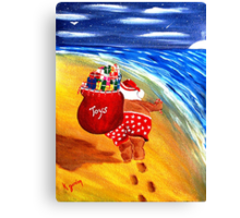 Santa On the Go Canvas Print