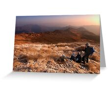 Frozen Dawn - Yeongnam Alps, South Korea Greeting Card