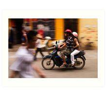 Motorbike Hanoi - Hanoi, Vietnam Art Print