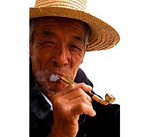 Smoking Man - Beijing, China Photographic Print