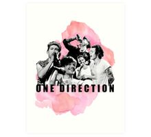 One Direction Watercolor! Art Print