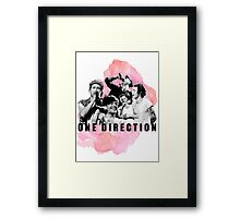 One Direction Watercolor! Framed Print