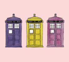Watercoloured-Multi-Coloured TARDISes. Kids Clothes