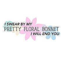 Pretty Floral Bonnet Photographic Print