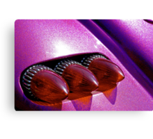 Bullet tail lights and purple metal flake Canvas Print