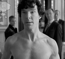 No shirt Sherlock? by pluginmuse