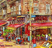 CINEMA CAFE NEW YORK CITY by Carole  Spandau