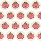 Happy Kawaii Tomato by Lisa Marie Robinson