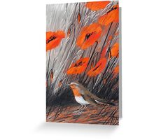 rotes Lied Greeting Card