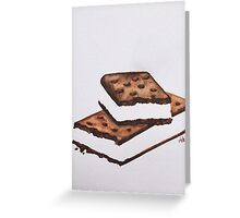 ice cream sandwich Greeting Card