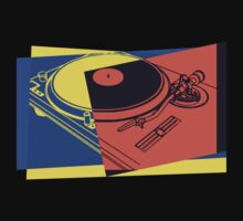 Vintage Turntable Pop Art by retrorebirth