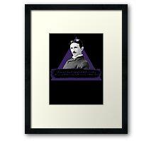 Nikola Tesla - 369 Framed Print