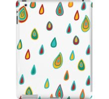 Colorful pattern with raindrops iPad Case/Skin