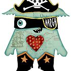 Pirate Monster by alphabetty