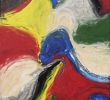 """""""Exuberance"""" original abstract artwork by Laura Tozer by Bellatrixie"""