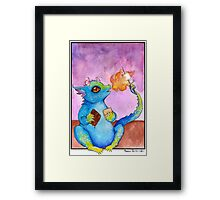 S'more Dragon Framed Print