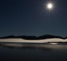 Moonlit Lake Sticker