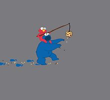 Cookie Monster Zombie by OneWeirdDude