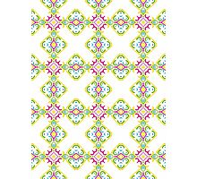 Colorful Shabby Chic Inspired Ornamental Design Photographic Print