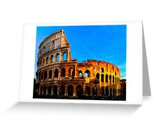 Roma Colosseum Antiqua - Italy Greeting Card