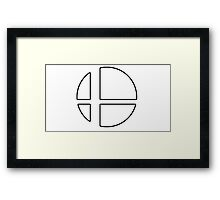 Super Smash Bros Logo (Nintendo) Framed Print