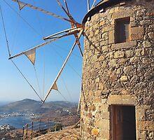 Windmills HIgh above Patmos  by ProjectSpearman