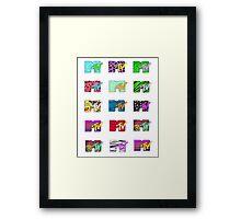 MTV Logos Framed Print