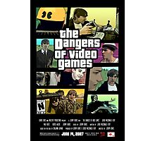 The Dangers of Video Games Poster Photographic Print