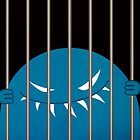 Jailed Evil Grinning Monster Kingpin by Boriana Giormova