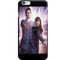 an apple a day keeps the doctor (who) away version 10 iPhone Case/Skin