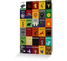 Game of Thrones House Sigils Greeting Card