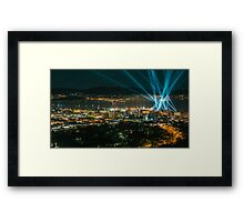Articulated Intersect Over Hobart Framed Print