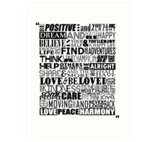 Random Funky Words Art Print