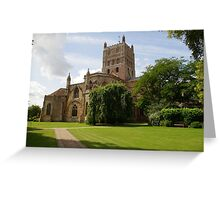 Twekesbury Abbey exterior Greeting Card