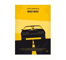 No051 My Mad Max minimal movie poster Art Print