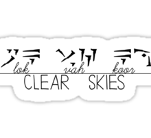 Skyrim shout: Clear Skies Sticker