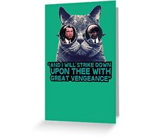 Galaxy cat glasses - pulp fiction quote jules Greeting Card