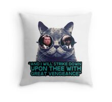 Galaxy cat glasses - pulp fiction quote jules Throw Pillow
