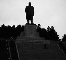 Statue of Kim Il-Sung in North Korea by lufraki