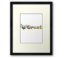 Be Great - Bumblebee Framed Print